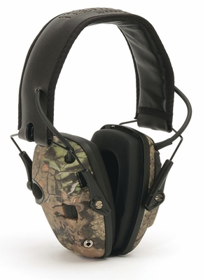 Howard Leight Impact Sport Electronic Ear Muff NRR 22, Mossy Oak Breakup Camo