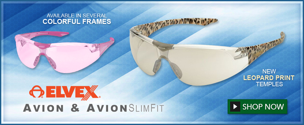 Elvex Avion & Avion SlimFit Safety Glasses