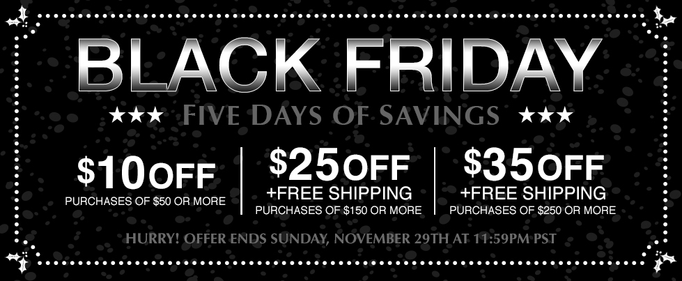 Black Friday Five Days of Savings