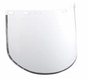 "Jackson Aluminum Bound Clear Acetate Faceshield 15.5"" x 9"" x .040"""