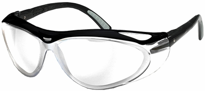 Jackson Envision Safety Glasses with Black Frame and Clear Anti-Fog Lens
