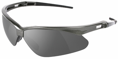 Jackson Nemesis Polarized Safety Glasses with Gunmetal Frame and Smoke Lens