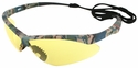 Jackson Nemesis Safety Glasses with Camo Frame and Amber Anti-Fog Lens