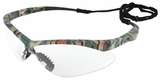 Jackson Nemesis Safety Glasses with Camo Frame and Anti-Fog Clear Lens