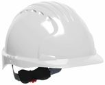 JSP 6151 Evolution Deluxe Hard Hat with Standard Brim and 6-Point Ratchet Suspension