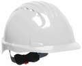 JSP 6151 Evolution Deluxe Non-Vented Hard Hat with Standard Brim and 6-Point Ratchet Suspension