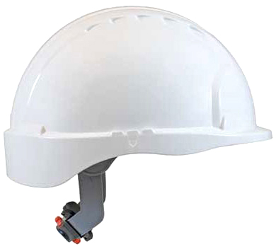 JSP 6151 Evolution Deluxe Hard Hat with Short Brim and 6-Point Ratchet Suspension