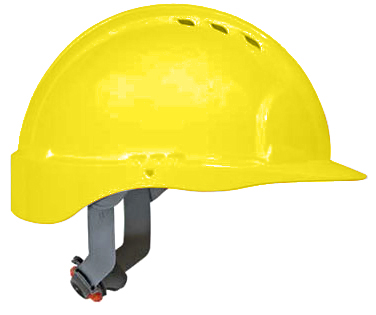 JSP 6151 Evolution Deluxe VENTED Hard Hat with Standard Brim and 6-Point Ratchet Suspension