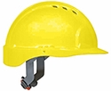 JSP 6151 Evolution Deluxe VENTED Hard Hat with 6-Point Ratchet Suspension