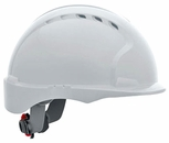 JSP 6151 Evolution Deluxe VENTED Hard Hat with Short Brim and 6-Point Ratchet