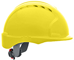 JSP 6151 Evolution Deluxe VENTED Hard Hat with Short Brim and 6-Point Ratchet Suspension