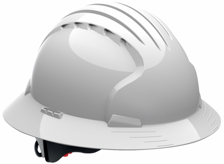 JSP 6161 Evolution Deluxe Non-Vented Hard Hat with Full Brim and 6-Point Ratchet Suspension
