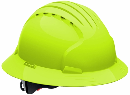 JSP 6161 Evolution Deluxe Hard Hat with Full Brim and 6-Point Ratchet Suspension