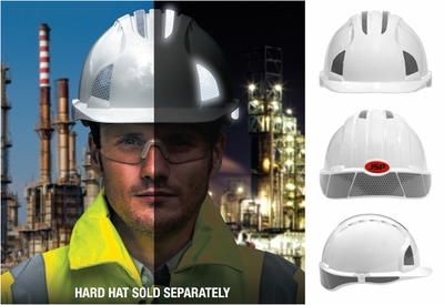 JSP CR2 Reflective Kit for Evolution 6100 Series Hard Hats - Class R2 White