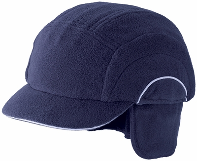 JSP Winter Bump Cap with Navy Fleece Hat, Neck and Ear Cover