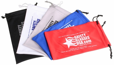 Microfiber Pouch with Safety Glasses USA Logo