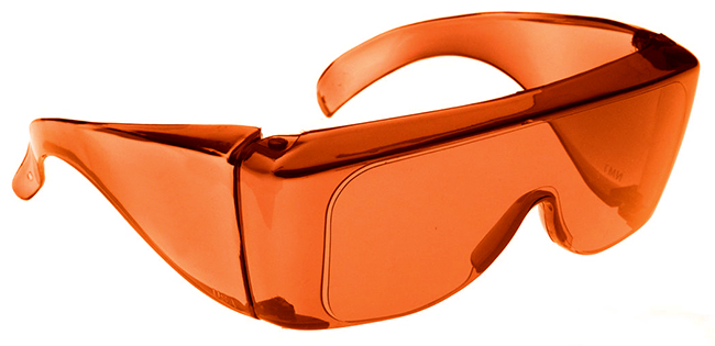 NoIR BluGard OTG Nighttime Eyewear with Orange Over ...