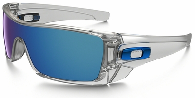 Oakley Batwolf Sunglasses with Clear Frame and Ice Iridium Lens