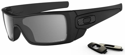 Oakley Batwolf Sunglasses with Matte Black Frame and Grey Polarized Lens