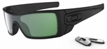 Oakley Batwolf Sunglasses with Matte Black Ink Frame and Emerald Iridium Lens