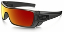 Oakley Batwolf Sunglasses with Matte Black Ink Frame and Ruby Iridium Lens