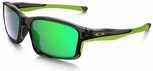 Oakley Chainlink Sunglasses with Grey Smoke Frame and Jade Iridium Lenses