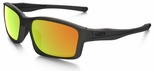 Oakley Chainlink Sunglasses with Matte Black Frame and Fire Iridium Lenses