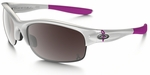 Oakley Commit Breast Cancer Awareness Edition Sunglasses with Polished White Frame and G20 Black Iridium SQ Lens