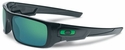 Oakley Crankshaft Sunglasses with Black Ink Frame and Jade Iridium Lenses