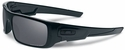 Oakley Crankshaft Sunglasses with Matte Black Frame and Black Iridium Polarized Lenses