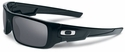 Oakley Crankshaft Sunglasses with Polished Black Frame and Black Iridium Lenses