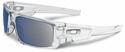 Oakley Crankshaft Sunglasses with Polished Clear Frame and Ice Iridium Lenses