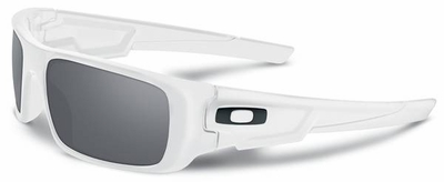 Oakley Crankshaft Sunglasses with Polished White Frame and Grey Lenses