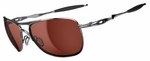 Oakley Crosshair Sunglasses with Polished Chrome Frame and VR28 Black Iridium Lenses