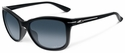 Oakley Drop In Sunglasses with Polished Black Frame and Grey Gradient Lenses