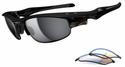 Oakley Fast Jacket Sunglasses with Polished Black Frame and Black Iridium and P42 Lenses