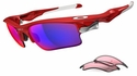 Oakley Fast Jacket XL Sunglasses with Infrared Frame and +Red Iridium and VR28 Lenses