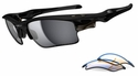 Oakley Fast Jacket XL Sunglasses with Polished Black Frame and Black Iridium Polarized and P42 Lenses