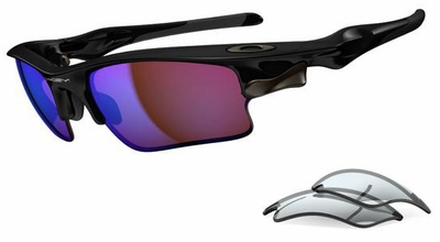 Oakley Fast Jacket XL Sunglasses with Polished Black Frame and G30 and Grey Lenses