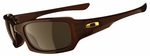 Oakley Fives Squared Sunglasses with Rootbeer Frame and Dark Bronze Lens