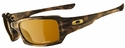 Oakley Fives Squared Sunglasses with Brown Tortoise Frame and Bronze Polarized Lens