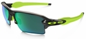 Oakley Flak Jacket 2.0 XL with Black Ink Frame and Jade Iridium Polarized Lens