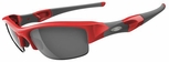 Oakley Flak Jacket Sunglasses with Infrared Frame and Black Iridium Lenses