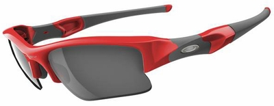 Oakley Flak Jacket XLJ Sunglasses with Infrared Frame and Black Iridium Lenses