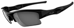 Oakley Flak Jacket XLJ Sunglasses with Matte Black Frame and Black Iridium Polarized Lenses
