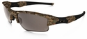 Oakley Flak Jacket XLJ with Kings Woodland Camo Frame and Warm Grey Lens