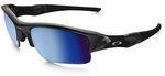 Oakley Flak Jacket XLJ with Polished Black Frame and Prizm Deep Water Polarized Lens