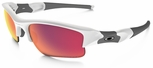 Oakley Flak Jacket XLJ with Polished White Frame and Prizm Baseball Outfield Lens Lens
