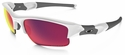 Oakley Flak Jacket XLJ with Polished White Frame and Prizm Road Lens