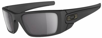 Oakley Fuel Cell Sunglasses with Matte Black Frame and Grey Polarized Lens